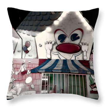 Carnival Fun House Throw Pillow