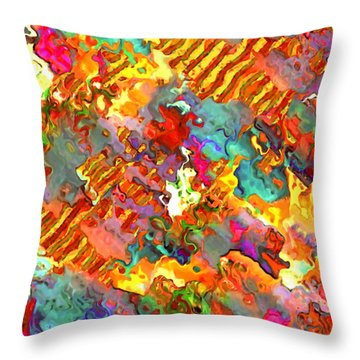 Throw Pillow featuring the painting Carnival by Jann Paxton