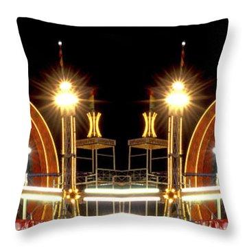 Carnival Light Patterns At Night Throw Pillow