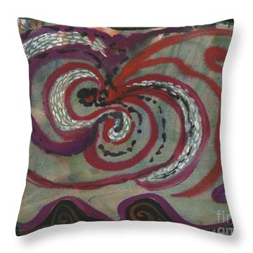 Carnival Magic Show  Throw Pillow by Cathy Peterson