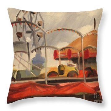 Carnival On Cicero Ave. 1939 Throw Pillow