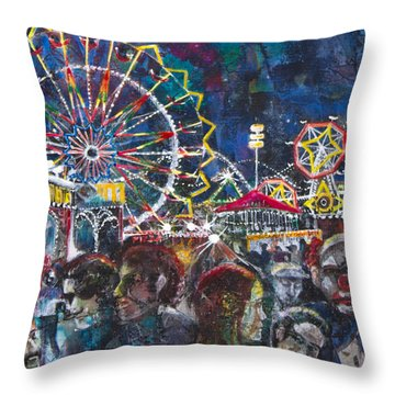 Carnival Throw Pillow by Patricia Allingham Carlson