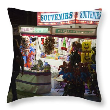 Carnival Souvenirs Throw Pillow by Jason O Watson