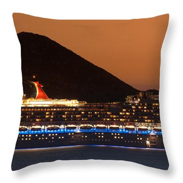 Carnival Splendor At Cabo San Lucas Throw Pillow