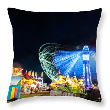 Carnival Whirl Throw Pillow