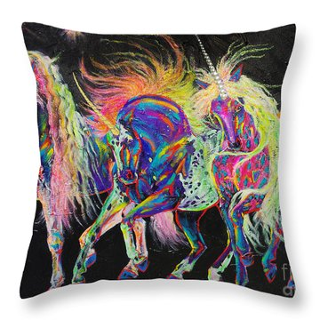 Carnivale Throw Pillow by Louise Green