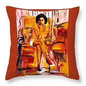 Carol Elaine Throw Pillow by Everett Spruill