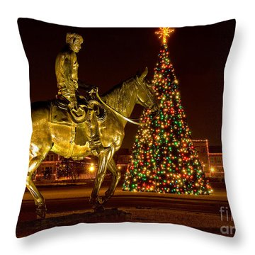Throw Pillow featuring the photograph Carol Of Lights by Mae Wertz