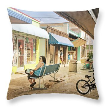 Throw Pillow featuring the photograph Carolina Beach Boardwalk by Phil Mancuso