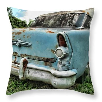 Carolina Blue Throw Pillow by Victor Montgomery