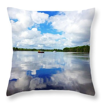 Carolina Blue- Washington Nc Throw Pillow