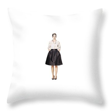 Carolina Herrera Classic Look Throw Pillow by Jazmin Angeles