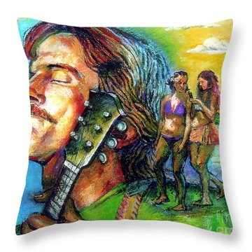 Carolina On My Mind Throw Pillow by Stan Esson