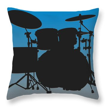 Carolina Panthers Drum Set Throw Pillow by Joe Hamilton