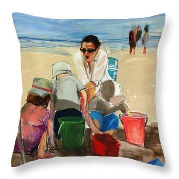 Carolyn Throw Pillow by Daniel Clarke