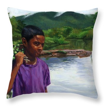 Caroni Chennette Throw Pillow by Colin Bootman
