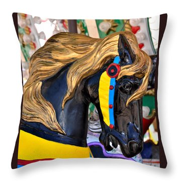 Carousal Horses - 2 Throw Pillow