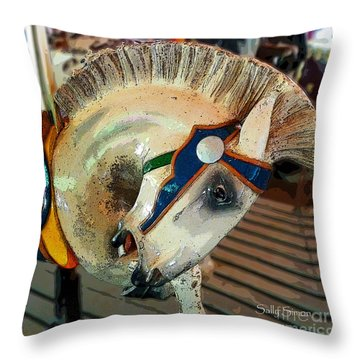Throw Pillow featuring the photograph Carousel 1 by Sally Simon