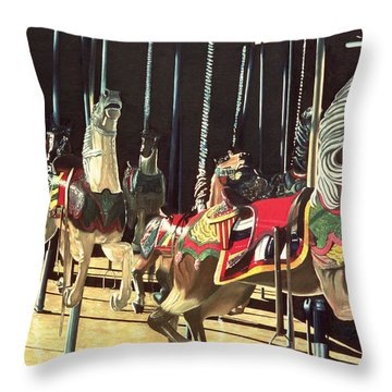 Carousel Throw Pillow by Anthony Butera