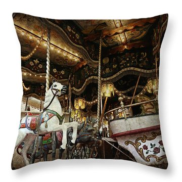 Throw Pillow featuring the photograph Carousel by Barbara Orenya