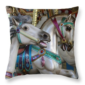 Carousel Throw Pillow by Donna Walsh