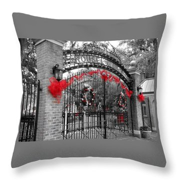 Carousel Gardens - New Orleans City Park Throw Pillow