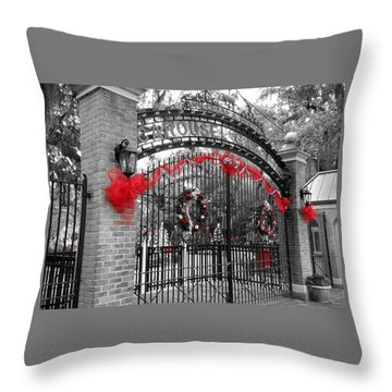 Carousel Gardens - New Orleans City Park Throw Pillow