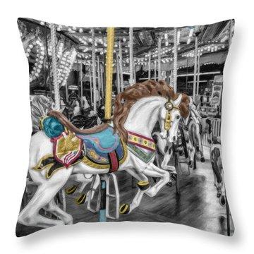 Carousel Horse Equ168125 Throw Pillow