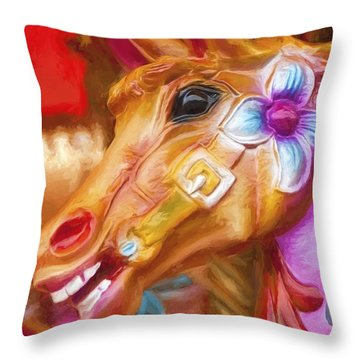 Carousel Horse. Throw Pillow