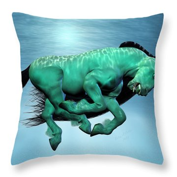 Carousel IIi Throw Pillow by Betsy Knapp