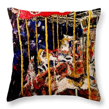 Carousel  Main Attraction  Throw Pillow by Mark Moore