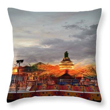 Carousel Throw Pillow by Matthew Gibson