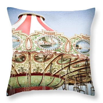 Carousel Top Throw Pillow by Colleen Kammerer