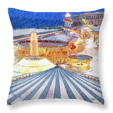 Carousel Waltz Throw Pillow
