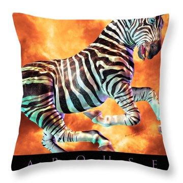 Carousel Zebra Throw Pillow by Betsy Knapp