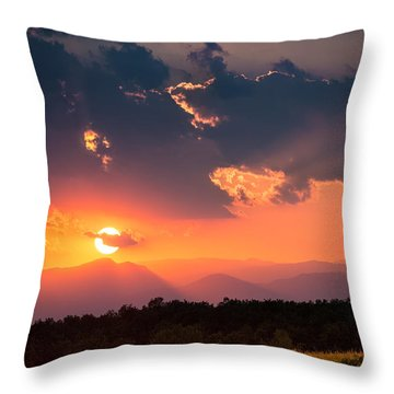 Throw Pillow featuring the photograph Carpathian Sunset by Mihai Andritoiu