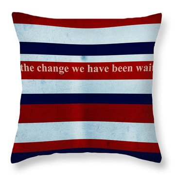Carpe Diem Series - Barack Obama Throw Pillow by Andrea Anderegg