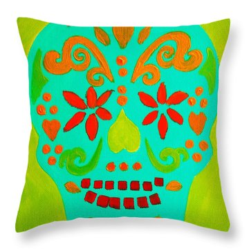 Throw Pillow featuring the painting Carpe Diem Series by Janet McDonald