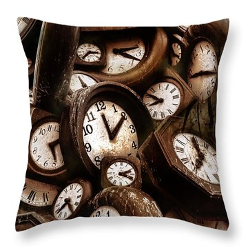 Carpe Diem - Time For Everyone Throw Pillow