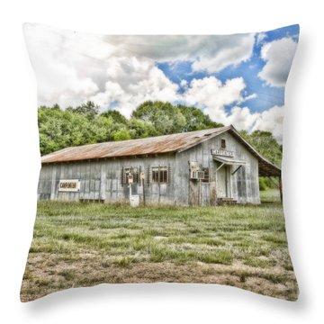 Carpenter Building Throw Pillow by Scott Pellegrin