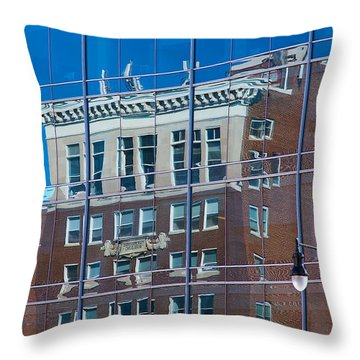 Carpenters Building Throw Pillow