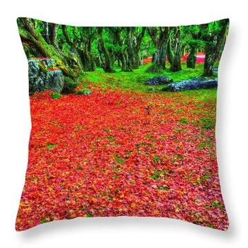 Carpet Of Love Throw Pillow