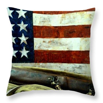 Throw Pillow featuring the photograph Carpetbagger by Newel Hunter