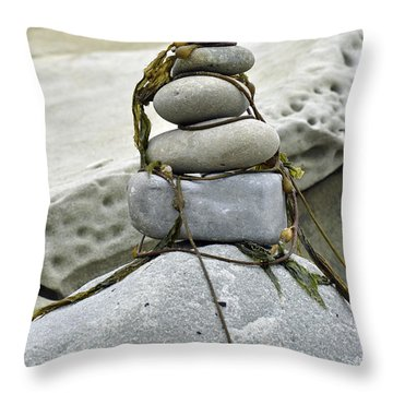 Carpinteria Stones Throw Pillow