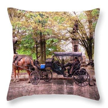 Carriage Rides Series 03 Throw Pillow