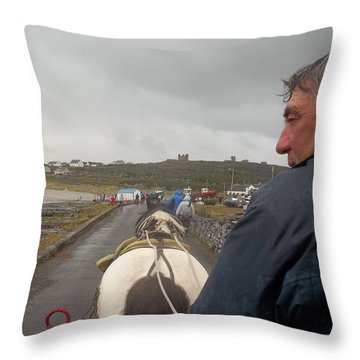 Carriage Ride On Inis Oirr Throw Pillow