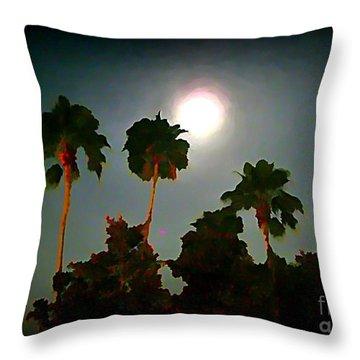 Carribean Romance Throw Pillow by John Malone