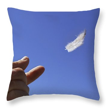 Carried On Wind Throw Pillow