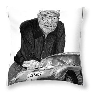 Carroll Shelby    Rest In Peace Throw Pillow by Jack Pumphrey