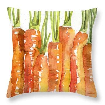 Carrot Bunch Art Blenda Studio Throw Pillow